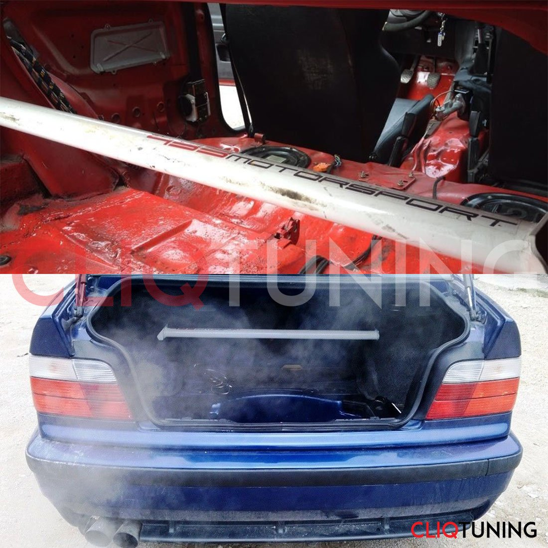 bmw e36 rear strut bar increase perfomance for drift and racing