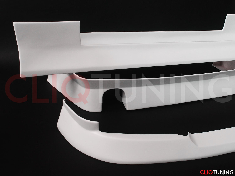 bmw e36 aero style kit for drift stance front rear lip and sideskirts jdm bn jap cliqtuning coupe aerokit