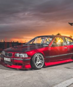 bmw e36 compact aero kit overfenders 318ti 323ti aerokit over fenders for drift and stance cliqtuning