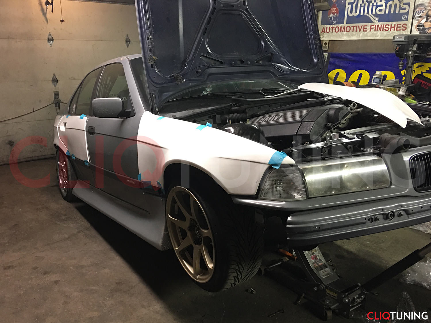 Bmw E36 Sedan Overfenders Front Rear Cliqtuning