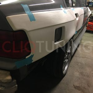 bmw e36 sedan overfenders over fenders wide body 50mm 40mm for drift track stance low cliqtuning3