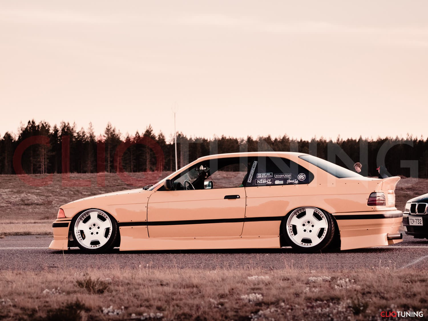 2door Bootlip Drift Stance Wing Bmw E36 Coupe Csl Style Ducktail Spoiler